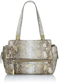 Women's Top-Handle Handbags - Nine West Scale Up Satchel Top Handle Bag Natural Snake One Size -- Want to know more, click on the image. Nine West, Messenger Bag, Snake, Satchel, Handle, Handbags, Natural, Top, Stuff To Buy