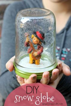 DIY Snow Globe - This adorable snow globe makes a perfect gift or an easy Christmas decoration.