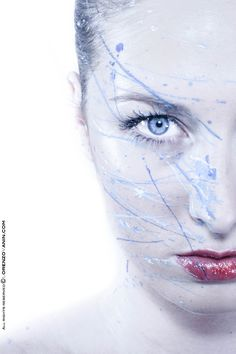#Splattered #BodyPaint Hot & Cold Colors on face #PhotoShoot in Studio White background  #LSVstudio