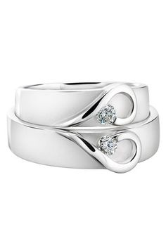 wedding rings....Wish the bands were thinner