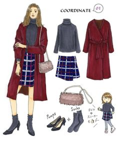 いつものコーデを旬顔にする秋のトレンドアウター|Today's Pick Up|ユニクロ Fashion Mode, Japan Fashion, India Fashion, Girl Fashion, Fashion Outfits, Moda Disney, Fashion Design Template, Illustration Mode, Watercolor Fashion