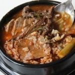 Spicy beef and vegetable soup Yukgaejang 육개장