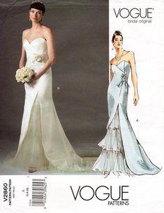 VICTOR COSTA Vogue Bridal Original Uncut Pattern plus booklet sizes 6-8-10
