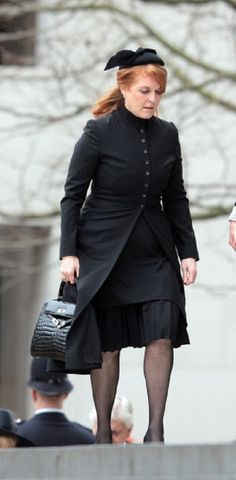 Sarah Ferguson, Duchess of York attends Baroness Thatcher's Funeral at St Paul's Cathedral on 17 April 2013 in London