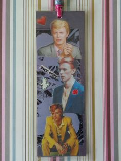 David Bowie Collage Bookmark by Pepperland by Pepperland on Etsy