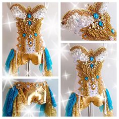 Golden and Greek Goddesses — Electric Laundry Festival Gear, Rave Festival, Clubbing Outfits, Rave Outfits, Fashion Outfits, Rave Costumes, Halloween Costumes, Dita Von Teese Burlesque, Wedding Corset
