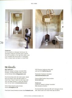 Bathroom for two in a Cotswolds farmhouse, featuring products from Drummonds drummonds-uk.com Utopia December 2014