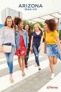 Back-to-school cool. Send them back with the newest graphic tees, denim trends, jackets, hoodies and more. Shop Arizona Jean Co. for juniors—only at JCPenney. Fashion Night, All Fashion, Fashion Shoes, Fashion Models, Fashion Trainers, Fashion Jewelry, Chicago Fashion, Chanel Fashion, Italian Fashion