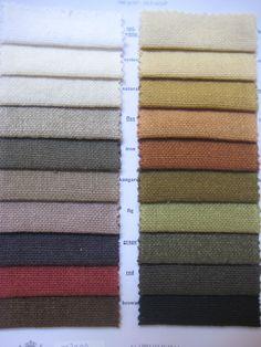 belgian linnen in earthy colours