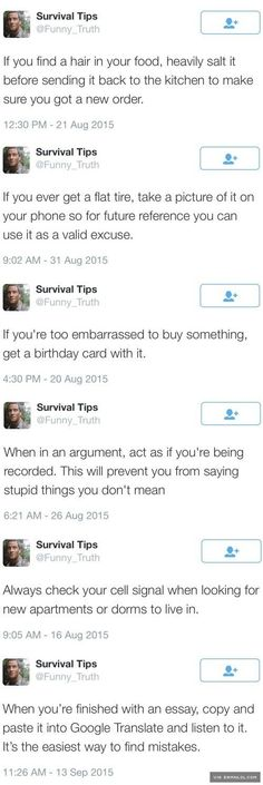 Practical Survival Tips - The Best Funny Pictures