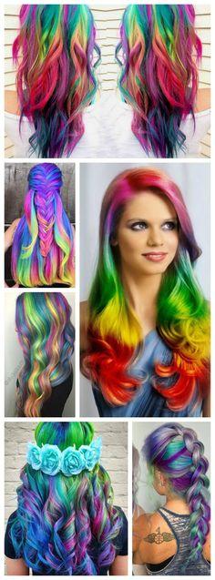 Rainbow Hair Color Ideas!