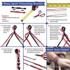 team spirit friendship bracelet via Hobby Lobby