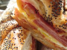 Pork Roll, Egg, and Cheese. It's a Jersey thing Taylor Pork Roll, Breakfast Time, Breakfast Recipes, Ham Recipes, Cooking Recipes, Halloween Breakfast, Food And Thought, Deli Ham, Wrap Sandwiches