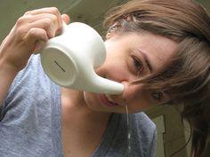 Limpeza nasal para tratar sinusite