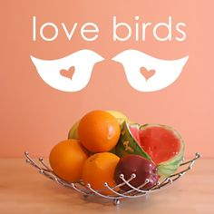 Wall Decal Love Birds by luxeloft on Etsy