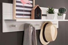 Prateleira de Parede Encanto - Branco Giz Box Tv, Hallway Decorating, Interiores Design, Home Office, Small Spaces, Diy Home Decor, House Design, Shelves, Organization