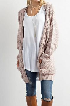 staying a boho girl even when its cold outside with this knit cardi