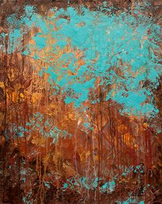 Original Abstract Modern Painting Title Recollection by HWinfield, $275.00