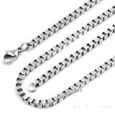 "Stainless Steel Box Chain1.5mm 16""-30"" Sizes Available. (24 Inches) Oxford Diamond Co http://www.amazon.com/dp/B00K5D4XJ6/ref=cm_sw_r_pi_dp_EWD.ub0J1N9SQ"