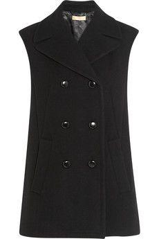 Michael Kors Oversized double-breasted wool vest | NET-A-PORTER