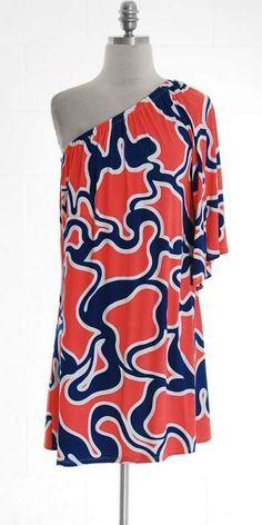 Love a one shoulder summer dress!!