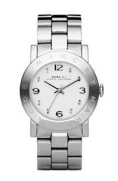 I would like a watch.  Jason any suggestions??  MARC BY MARC JACOBS 'Amy' Crystal Bracelet Watch | Nordstrom