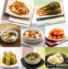 There're so many kinds of Kimchi that represents Korean fermented food.