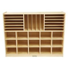 Birch Multi-Section Storage Cabinet with 15 Scoop Front Bins Rolling Casters, Multipurpose Classroom Furniture, Hardwood Mobile Storage for Homeschool Supplies and Toy Storage, Assorted Craft Room Storage, Kids Storage, Toy Storage, Storage Drawers, Storage Cabinets, Storage Spaces, Marker Storage, Arts And Crafts Storage, Storage Units