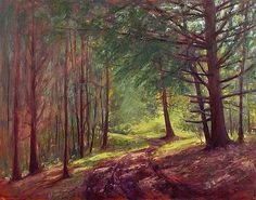 Cedar Ridge Woods - Landscape Paintings by Joe Kazimierczyk