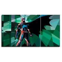 Cuadros Tripticos Comic Batman-wonderwoman-superman-iron Man