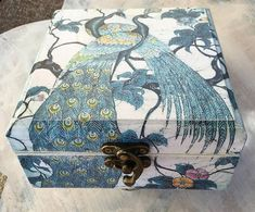 Peacock. Storage box.Jewelry box.Decoupage.Handmade.Mother`s day gift. etsy
