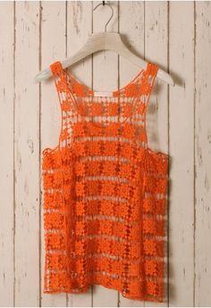 #orange daisy crochet top http://rstyle.me/n/jv75rr9te
