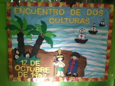 34 Ideas for Columbus Day - Aluno On Spanish Bulletin Boards, Montessori, Colegio Ideas, Teacher Supplies, Columbus Day, Classroom Door, Eric Carle, Opening Day, Play To Learn