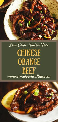 Make take-out in your own kitchen with our Orange Beef - Low-Carb Chinese Food Recipe! Unlike most take-out this recipe can work for low-carb keto Atkins diabetic gluten-free grain-free dairy-free and Banting diets. Low Carb Chinese Food, Healthy Chinese Recipes, Healthy Low Carb Recipes, Low Carb Dinner Recipes, Asian Recipes, Entree Recipes, Gluten Free Chinese Food, Healthy Food, Mexican Recipes