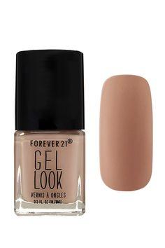 A gel look nail polish in a soft nude shade. #beautymark