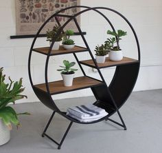 89 Models Beautiful Circular Bookshelf Design For Complement Of Your Home Decoration 36 Furniture, Industrial Furniture, Refinishing Furniture, Furniture Collection, Home Decor, Round Shelf, Cool Furniture, Furniture Design, Vintage Industrial Furniture