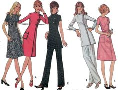 McCalls 2977  Dress Tunic and Pants pattern by retroactivefuture, $7.00