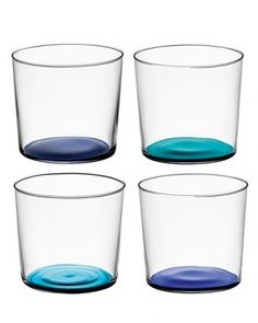 Basic Blues -varying shades help guests distinguish their glass