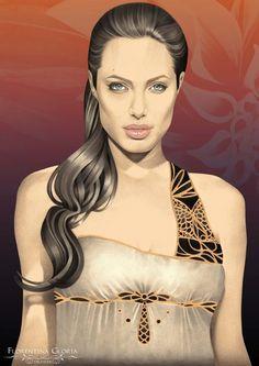 Angelina Jolie by MoThErHeArT.deviantart.com on @deviantART
