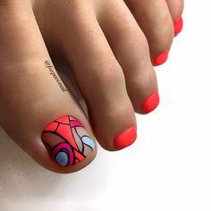 Cute Toe Nails, Cute Toes, Pretty Toes, Toe Nail Art, Pedicure Colors, Pedicure Designs, Toe Nail Designs, Feet Nail Design, Feet Nails