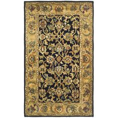 Found it at Wayfair - Classic Black / Gold Area Rug