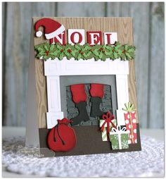 Noel by Jen Shults, handmade Christmas Card