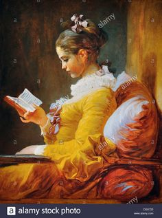 Young Girl Reading - by Jean-Honoré Fragonard, 1776 Stock Photo