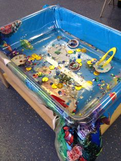 Under the sea fine motor water tray.