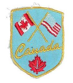 1.75 x 3.5 Tactical Patches Embroidery Morale Emblem X.Sem Orange Line Canada Flag Patch