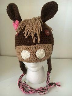 Crochet Horse Hat Crochet Horse Beanie Horse Hat Winter Horse Hat Pony & Crochet Horse Hat Crochet Horse Beanie Horse Hat Winter Horse Hat ...