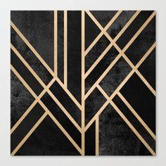 graphic, abstract, geometry, geometric, black, dark, lines, art deco