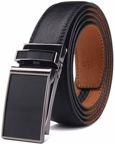 Black BNWT Men/'s High Quality Genuine Leather Dress Business Belt