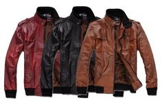 2012 springSlim leisure Fashion Men's fitted leather jacket, motorcycle jacket.