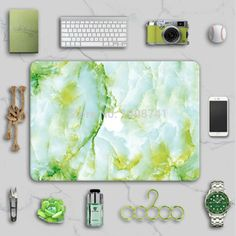 Unique Marble Grain Front Cover Laptop Decal Sticker Case For Apple Macbook Air Pro 11 13 15 Inch Guard Protective Cover Skin